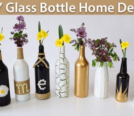 DIY Glass Bottle Home Decor – 3 Simple Ideas 0