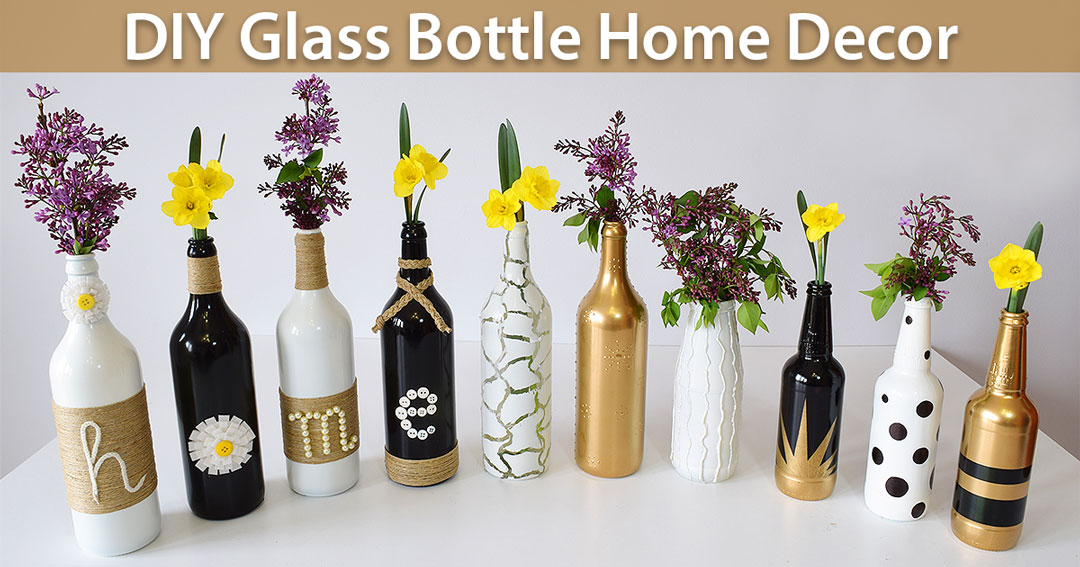 home decor ideas with glass bottles diy glass bottle home decor 3 simple ideas creativity 13248