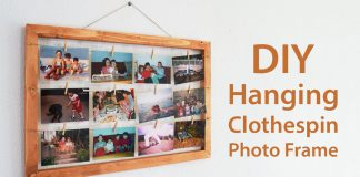 How To Make A Hanging Clothespin Photo Frame DIY Project 0