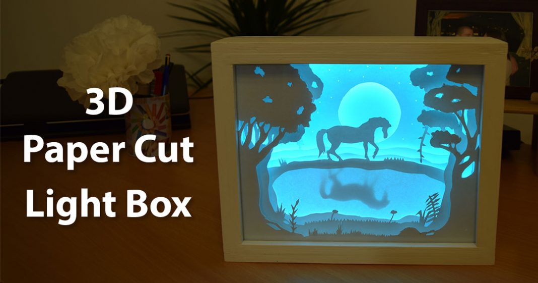 how to create a 3d paper cut light box diy project creativity hero. Black Bedroom Furniture Sets. Home Design Ideas