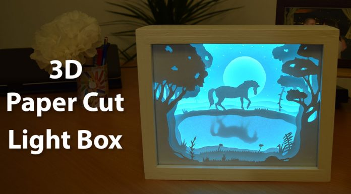 How To Create A 3D Paper Cut Light Box DIY Project 0