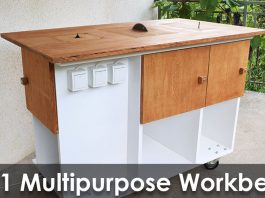 Homemade 3 in 1 Multipurpose Workbench - Web