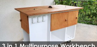 Homemade 3 in 1 Multipurpose Workbench - Web