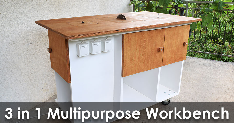 Homemade 3 in 1 multipurpose workbench table saw router table and homemade 3 in 1 multipurpose workbench table saw router table and inverted jigsaw free plans keyboard keysfo Image collections