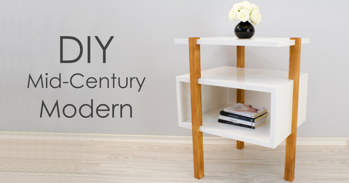 Diy Mid Century Modern Side Table End Table Creativity