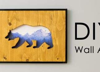 DIY Wall Art Reclaimed Wood Cut-Out with a Picture within Featured