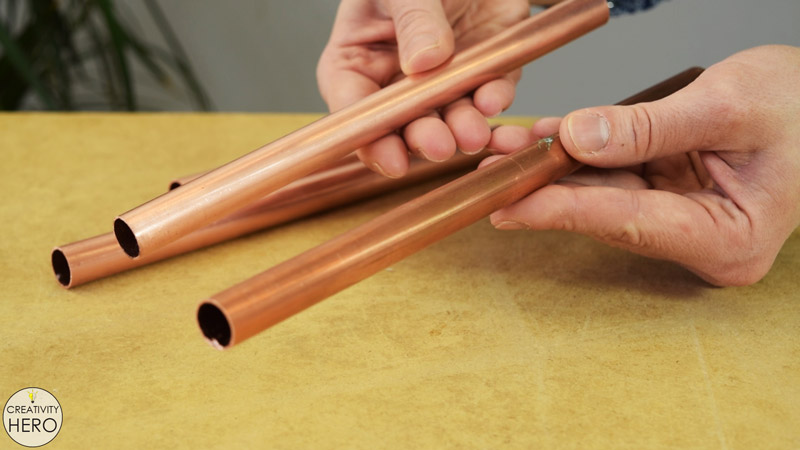 DIY Copper and Wood Wine Rack 12 - Difference between Clean and Tarnished Copper