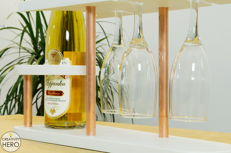 DIY Copper and Wood Wine Rack 16