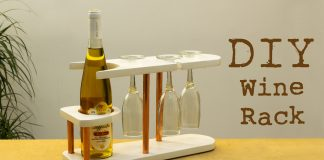 DIY Copper and Wood Wine Rack Featured Website