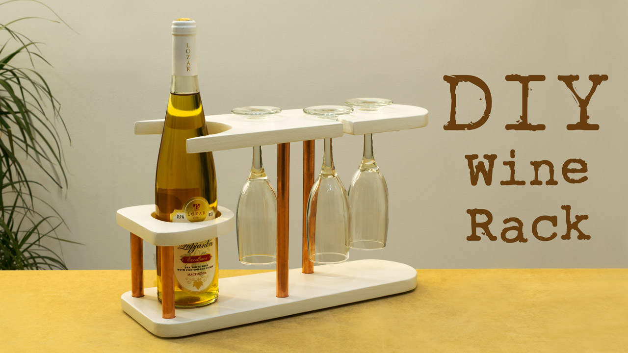 Diy Copper And Wood Wine Rack Creativity Hero