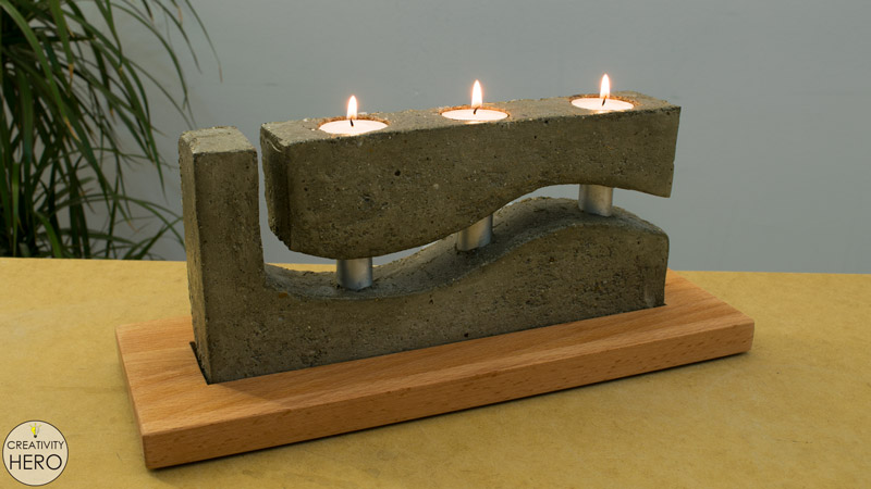 How to Make a Concrete Candle Holder with a Simple Molding Technique 1