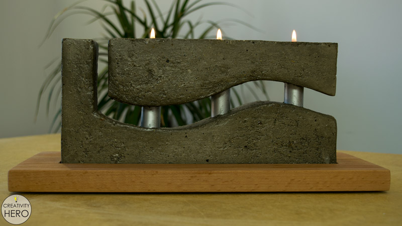 How to Make a Concrete Candle Holder with a Simple Molding Technique 2