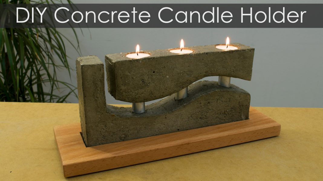 How To Make A Concrete Candle Holder With A Simple Molding