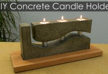 How to Make a Concrete Candle Holder with a Simple Molding Technique Photo