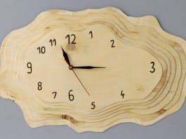 Making a Layered Plywood Wall Clock with a Tree Ring Shape Website