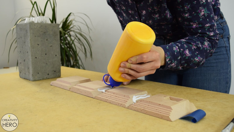 DIY Acrylic and Concrete Lamp with a Wooden Base 17 - Gluing the Wooden Base