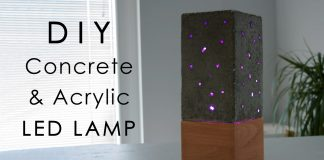 DIY Acrylic and Concrete Lamp with a Wooden Base Website