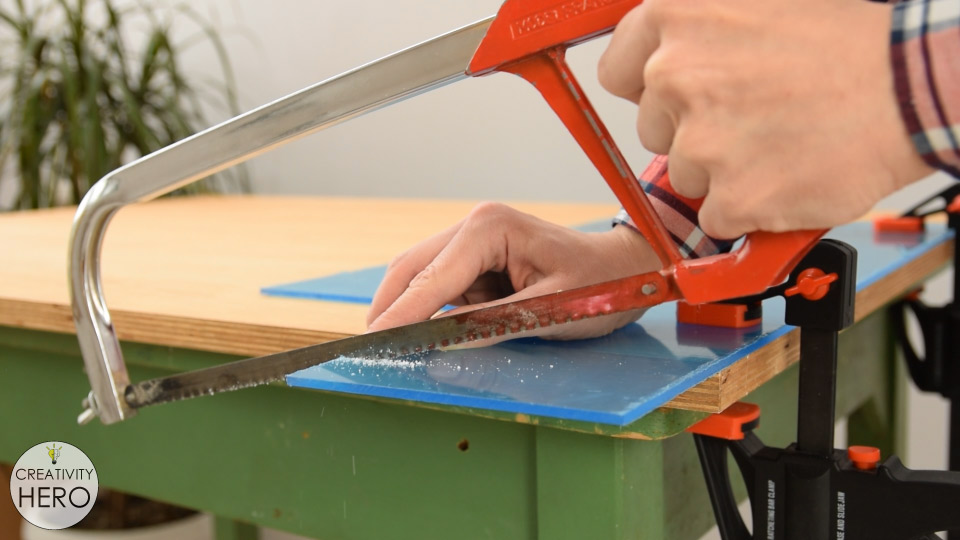 How to Bend Acrylic and Make Amazing Shapes 1 - Cutting Acrylic with Hacksaw