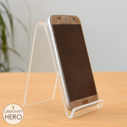 How to Bend Acrylic and Make Amazing Shapes 14 - Making a phone stand with two bends