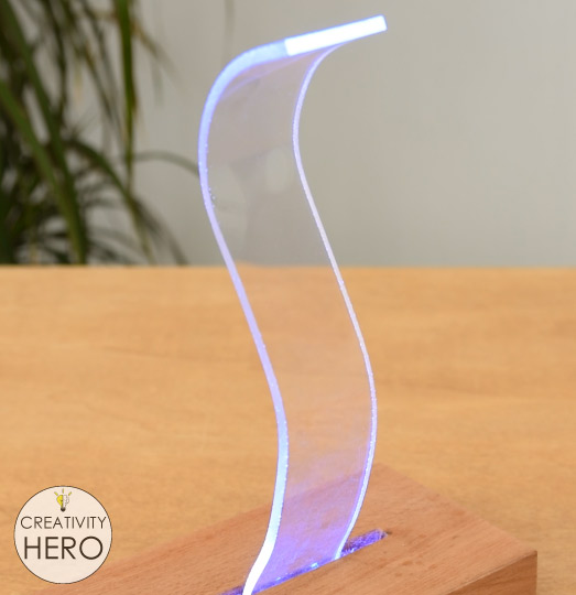 How to Bend Acrylic and Make Amazing Shapes 22 - Making a Lamp out of acrylic