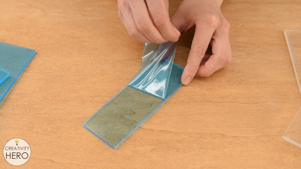 How to Bend Acrylic and Make Amazing Shapes 3 - Peeling off the protective film of the acrylic